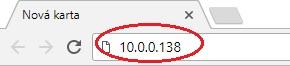 IP adresa modemu Comtrend VR-3031eu
