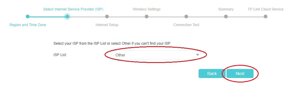 Volba ISP u modemů TP-Link