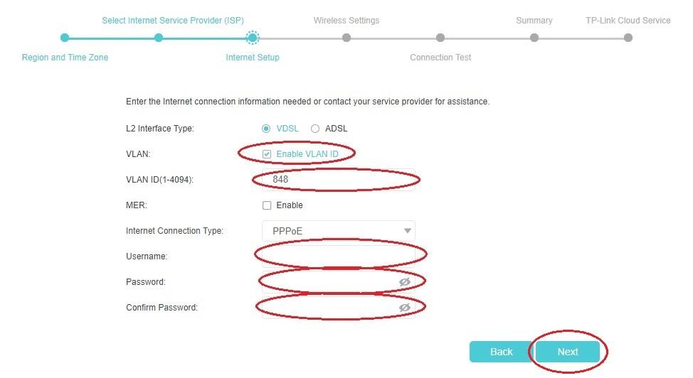 Nastavení PPP údajů u modemů TP-Link